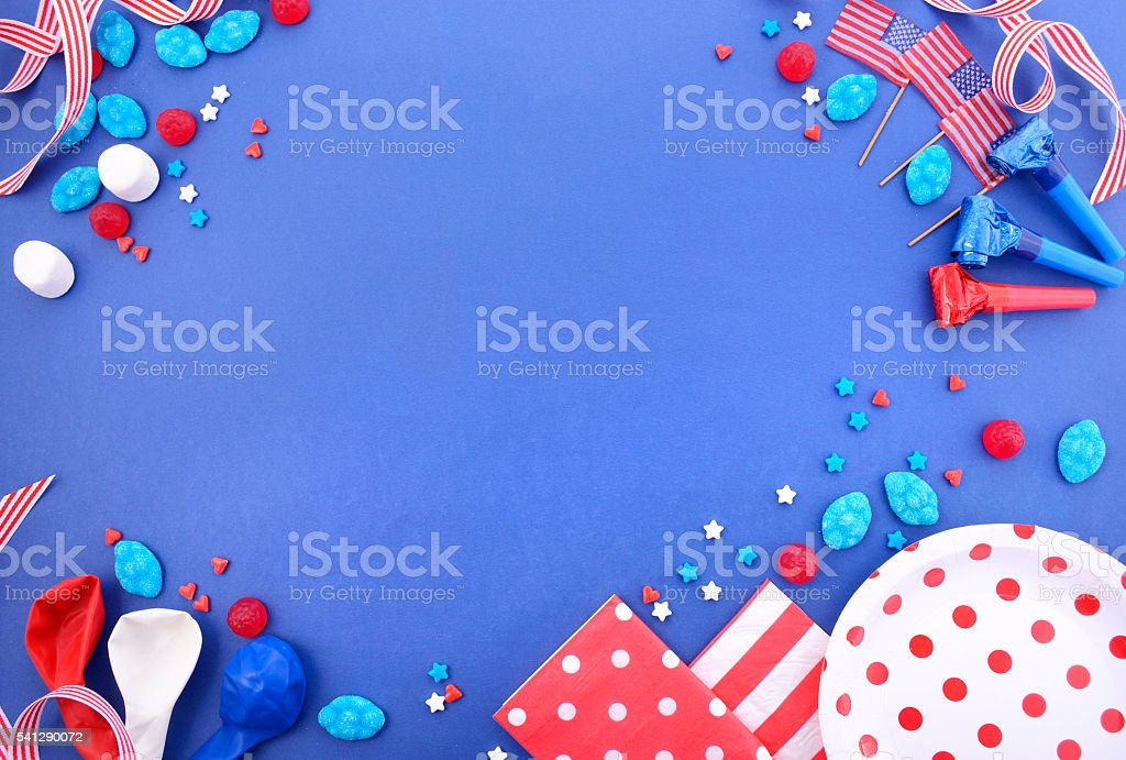 Happy Fourth of July Party Background. stock photo