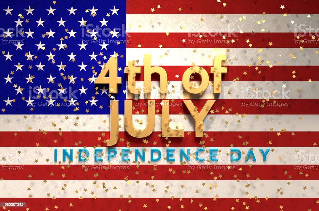 Happy Fourth of July! stock photo