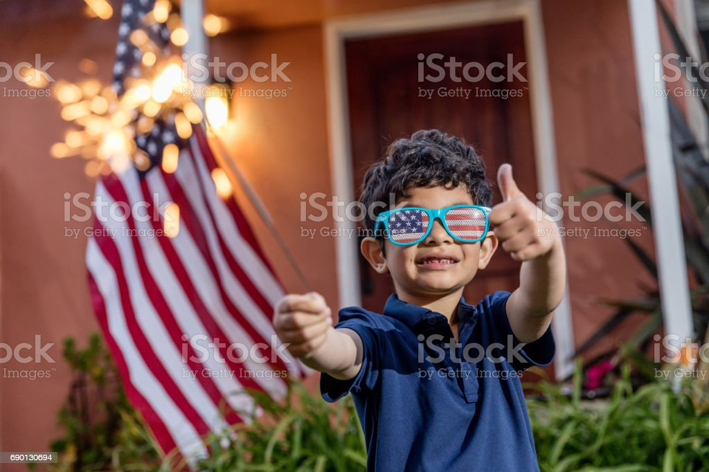 Happy Fourth of July stock photo
