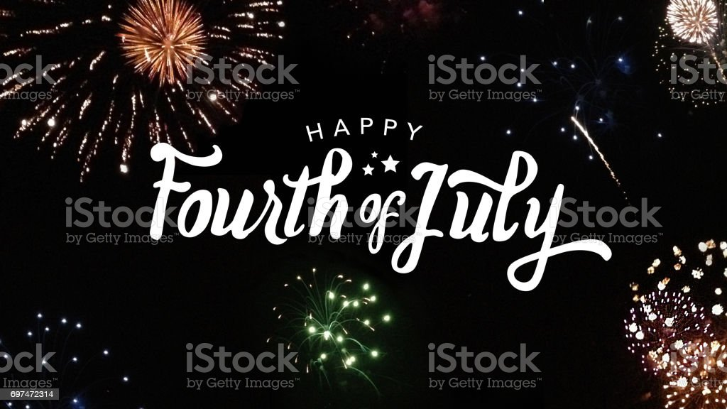 Happy Fourth of July Typography stock photo