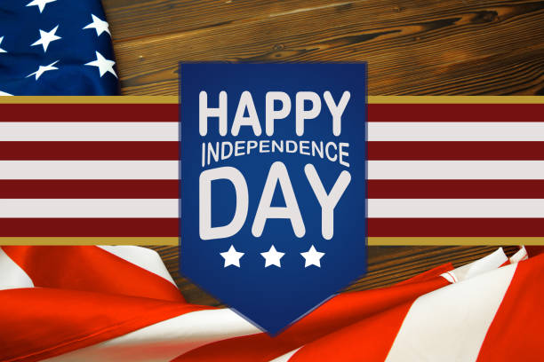Happy Fourth of July USA Flag - Image Happy Fourth of July USA Flag - Image independence day holiday stock pictures, royalty-free photos & images