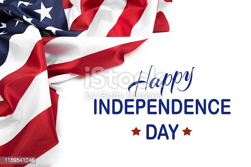 istock Happy Fourth of July USA Flag - Image 1159541246