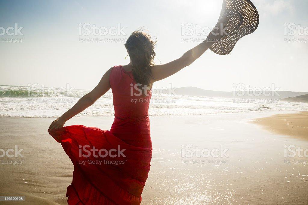 Happy freedom royalty-free stock photo