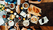 istock Happy french Family Having Breakfast 531865082