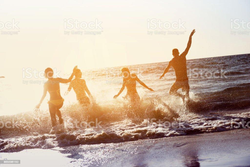 Vacaciones amigos felices vacaciones - foto de stock