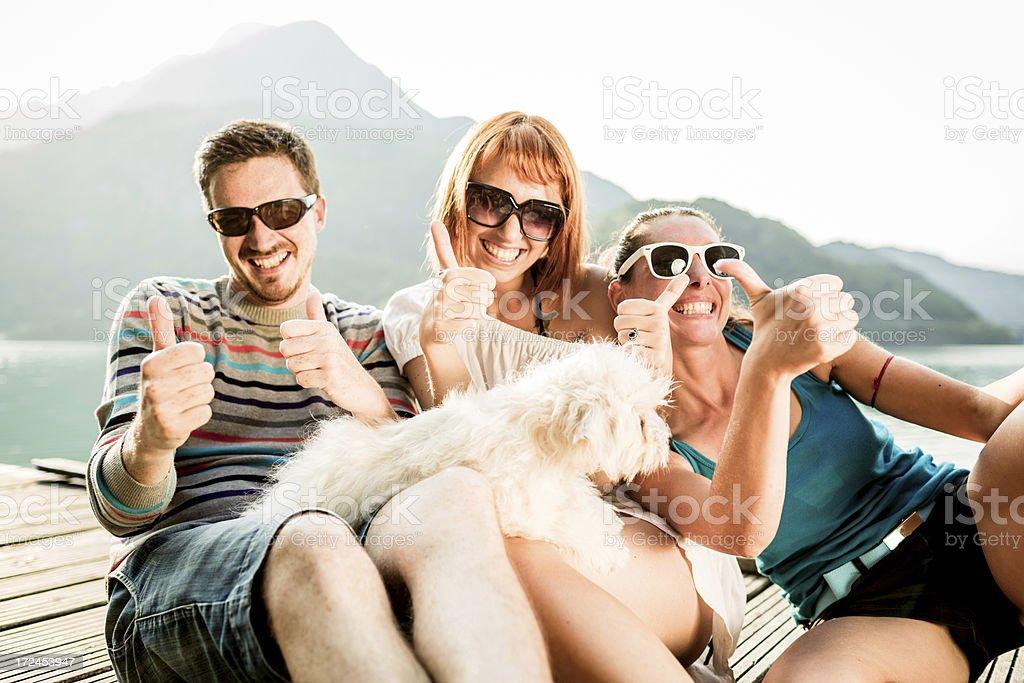 Happy friends having fun outdoor royalty-free stock photo