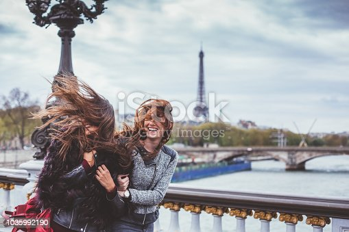 Young woman enjoying Paris together
