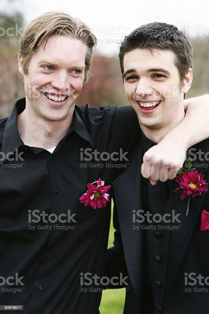 Happy Friends Of the Wedding Party. royalty-free stock photo
