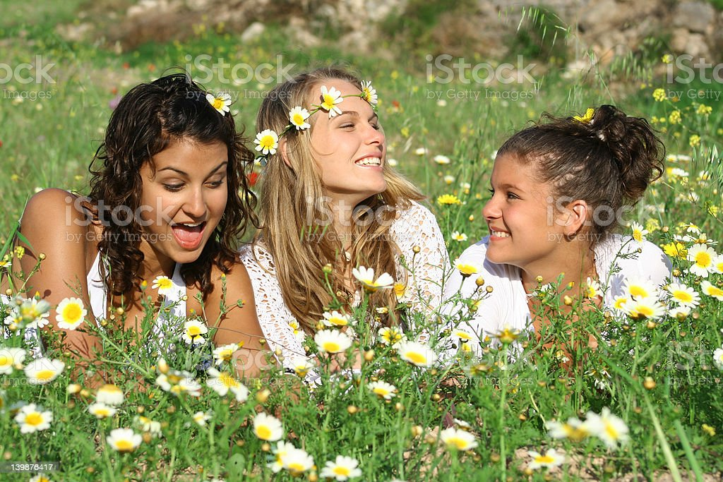 Happy friends (Scroll down page for similar images) royalty-free stock photo