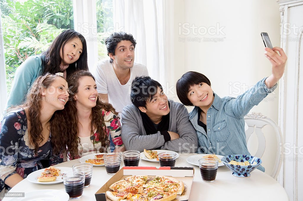 Happy friends together royalty-free stock photo