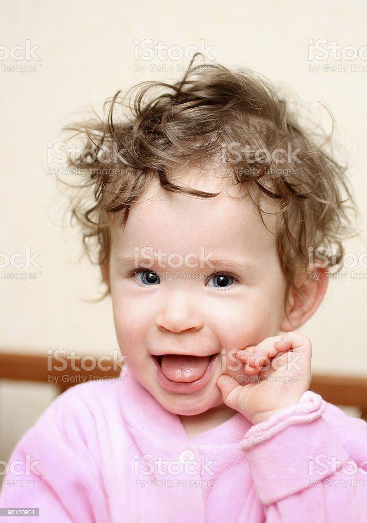 행복함 재미있음 아기 세로는 royalty-free 스톡 사진