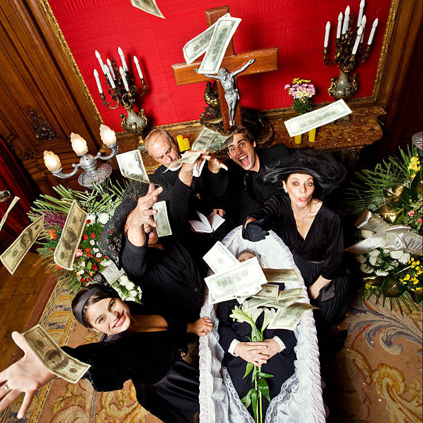 happy begräbnis - zum totlachen stock-fotos und bilder