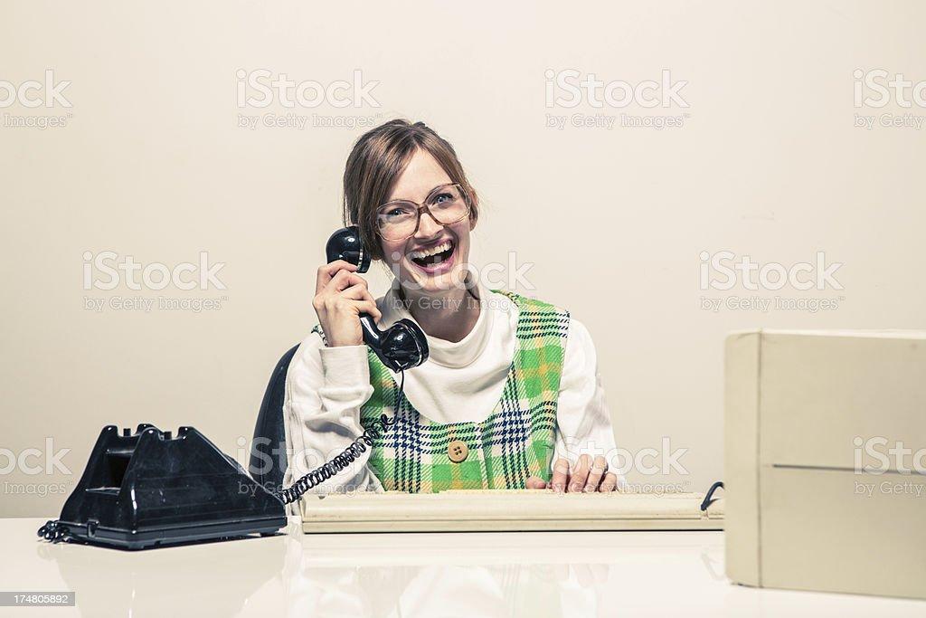 Lustige Glücklich Sekretärin Am Telefon Stockfoto und mehr ...