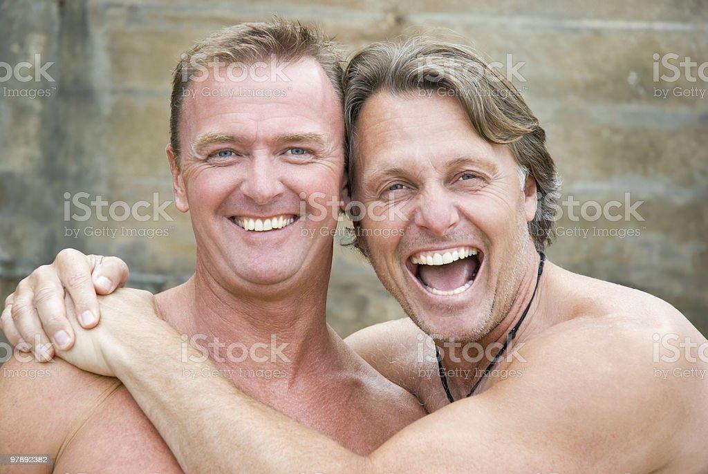 Happy gay couple royalty-free stock photo