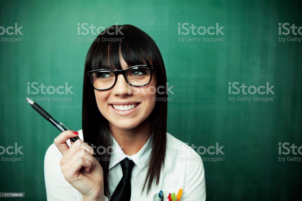 Happy Geek royalty-free stock photo