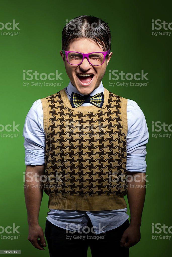 happy geek stock photo