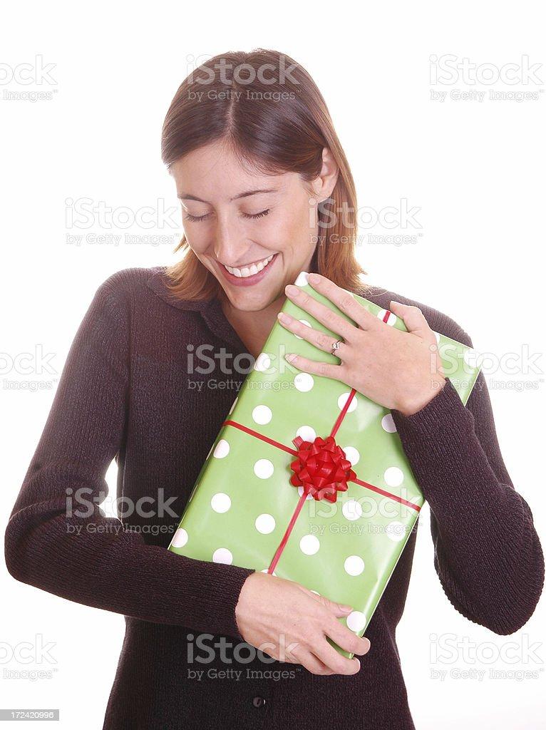 Happy Gift Recipient royalty-free stock photo