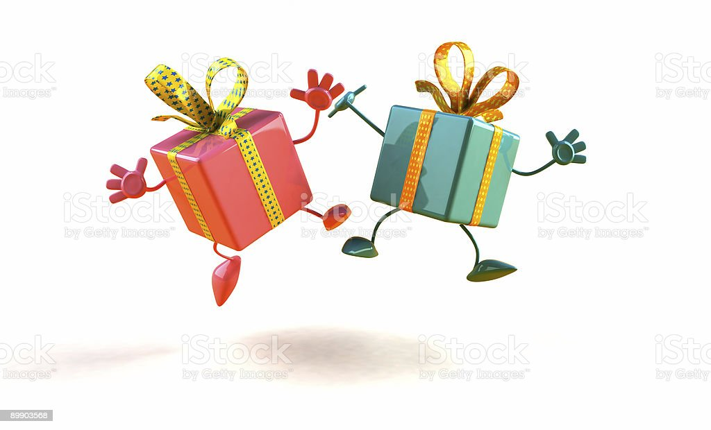Happy gifts royalty-free stock photo