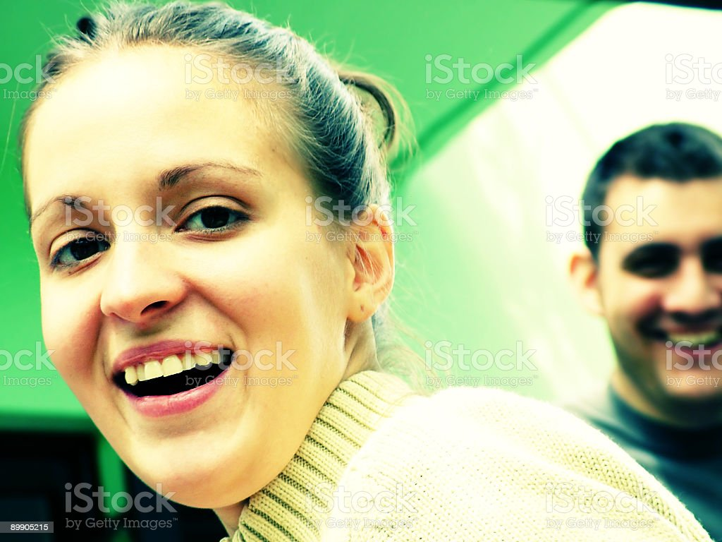Happy girl and boy smile royalty-free stock photo