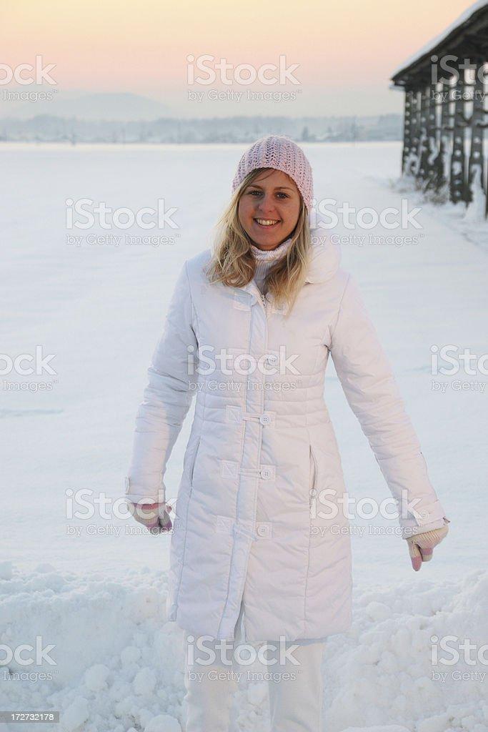 Happy girl at winter royalty-free stock photo