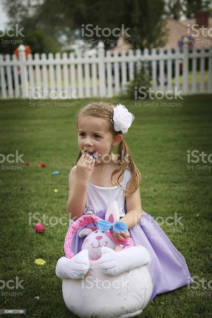 Happy Girl, Easter Series royalty-free stock photo