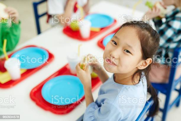 Happy girl eating school lunch picture id950934578?b=1&k=6&m=950934578&s=612x612&h=vlqnkvgu6xppzqnbllpu w scps xaj5w3ldziaqtui=