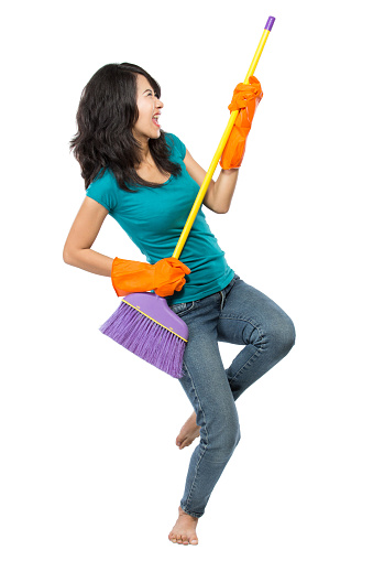 istock happy girl excited during cleaning 471681940