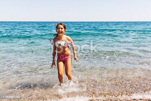 Happy girl in beach