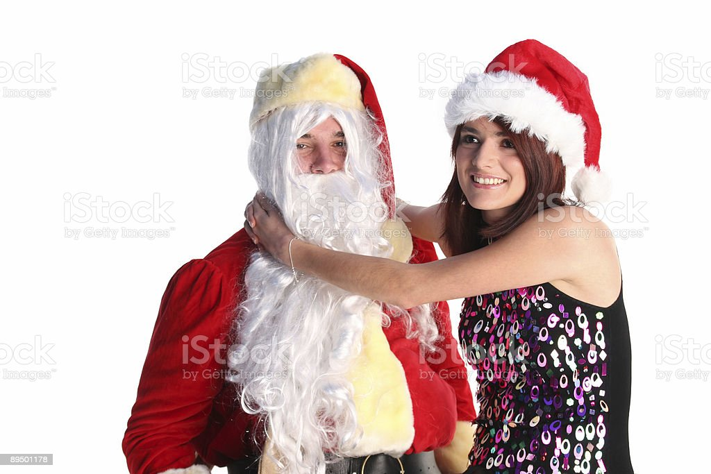 Ragazza Santa felice di nuotatori foto stock royalty-free