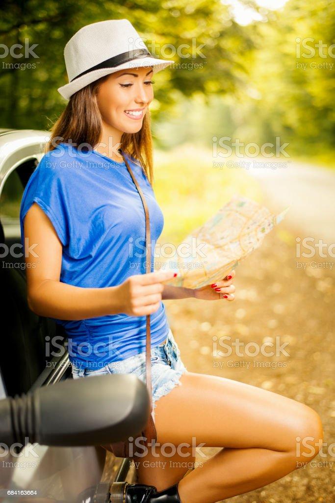 Happy Girl On Travel royalty-free stock photo