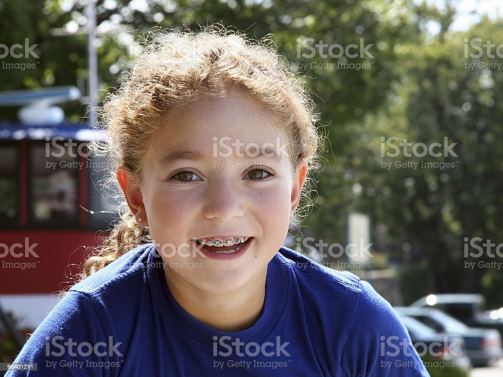 Happy girl outdoors - Royalty-free Adult Stock Photo