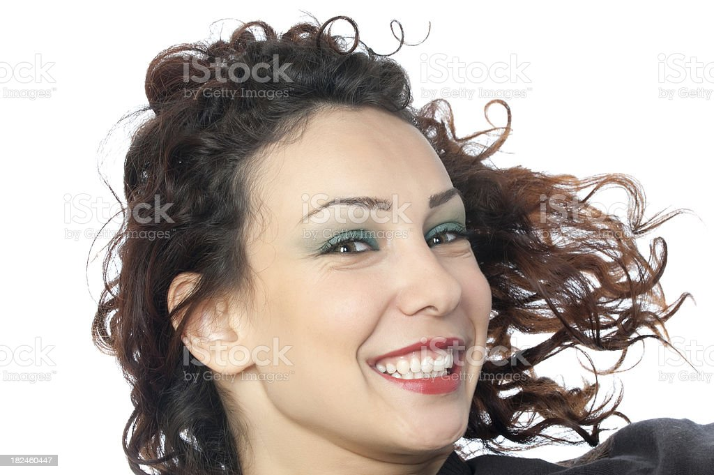 Menina feliz foto royalty-free