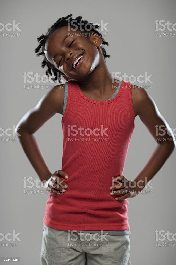 幸せな少女 ロイヤリティフリーストックフォト