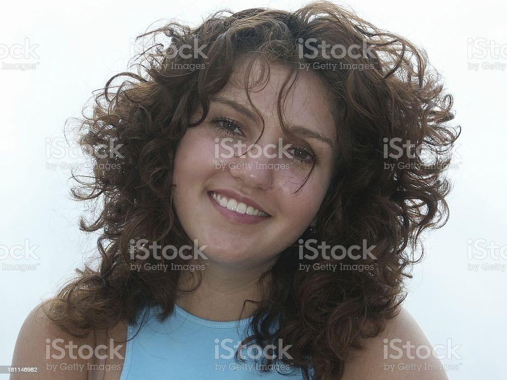 happy girl portrait royalty-free stock photo