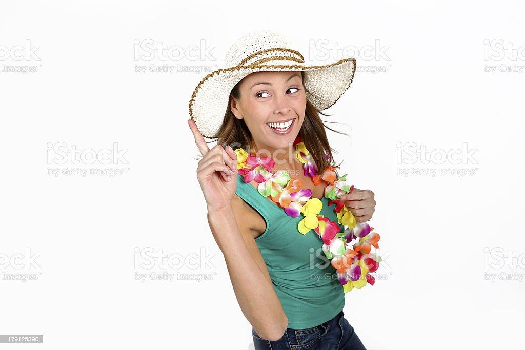 Happy girl ready to go on holidays royalty-free stock photo