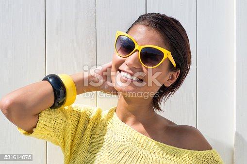 istock Happy Girl Sunbathing 531614075