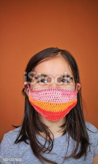 Crochet needles in close up