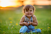 istock Happy Girl With Kitten 914898218