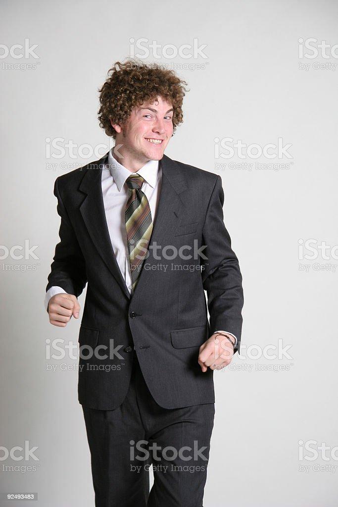 Happy go luck businessman royalty-free stock photo