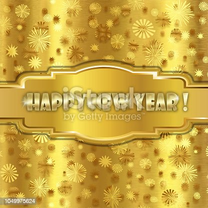 istock Happy Golden New Year 1049975624