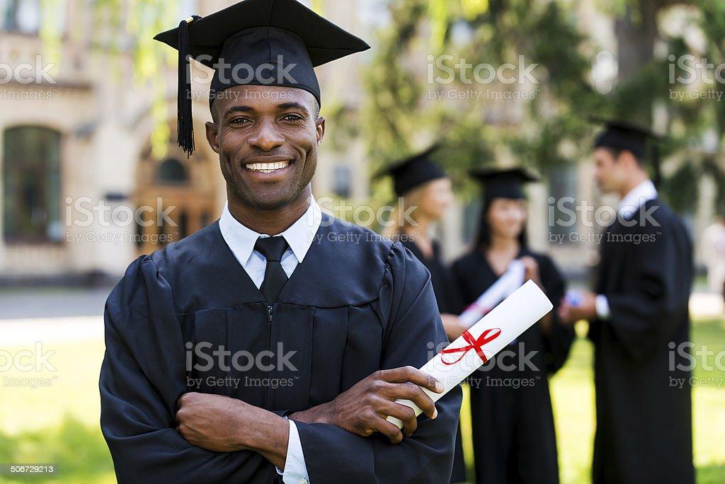 Happy graduate. stock photo