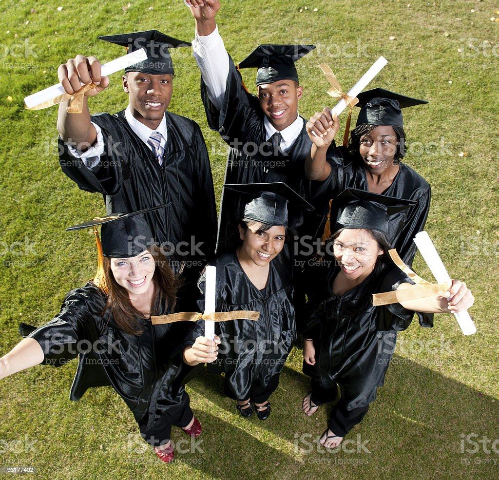 Happy Graduates royalty-free stock photo