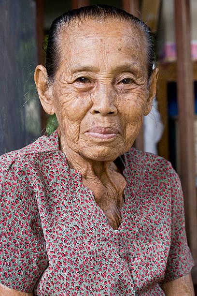 happy grand mother stock photo