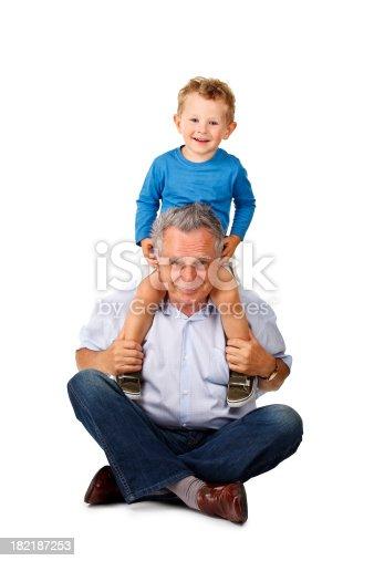 istock happy grandfather with grandchild 182187253