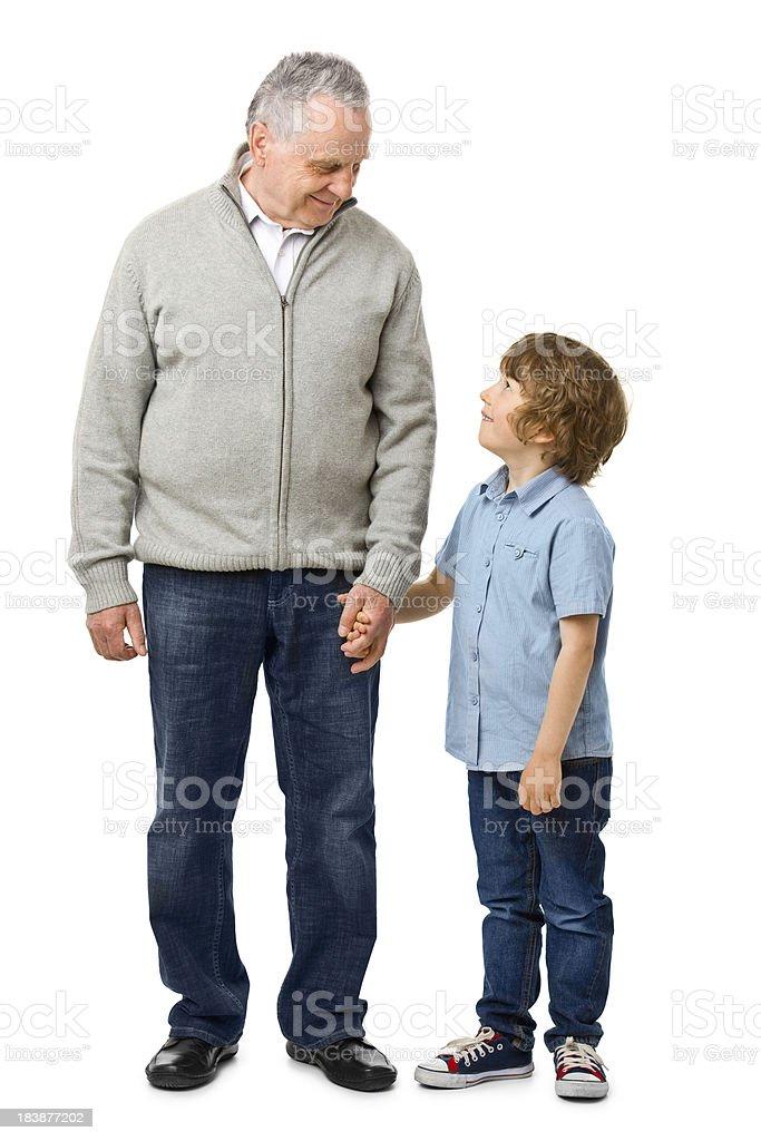 Feliz abuelo con nieto - foto de stock