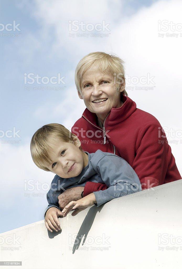 Happy Grandma 02 stock photo