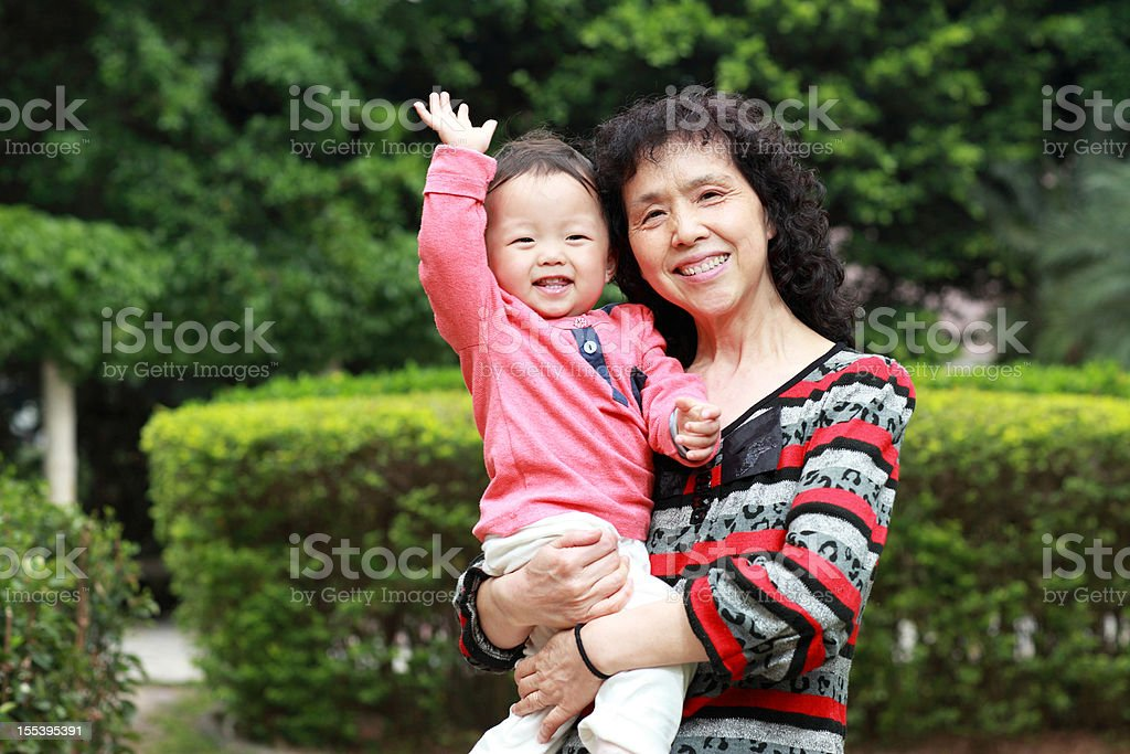 Happy grandma and her Grandson royalty-free stock photo