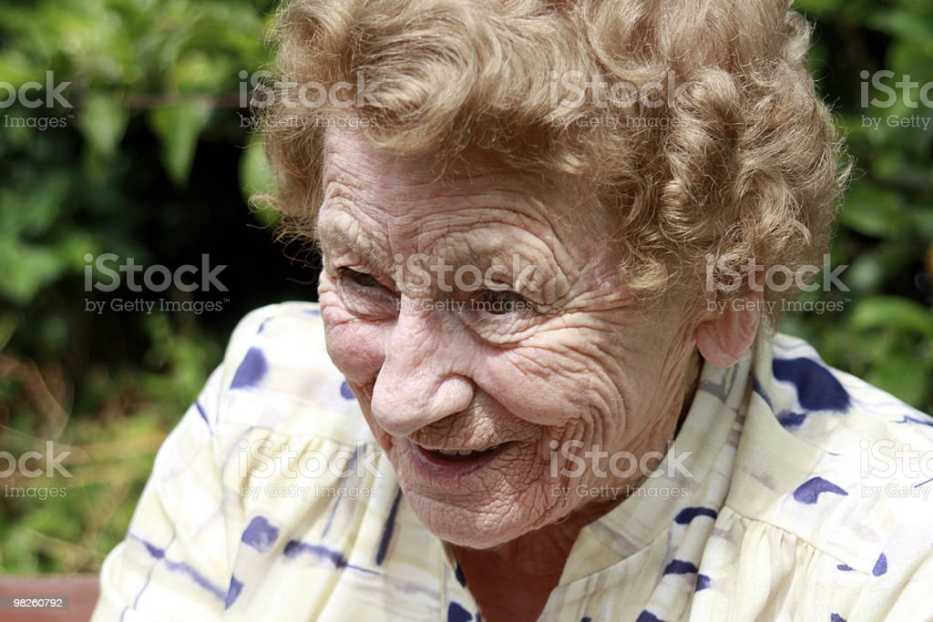 Happy grandmother royalty-free stock photo
