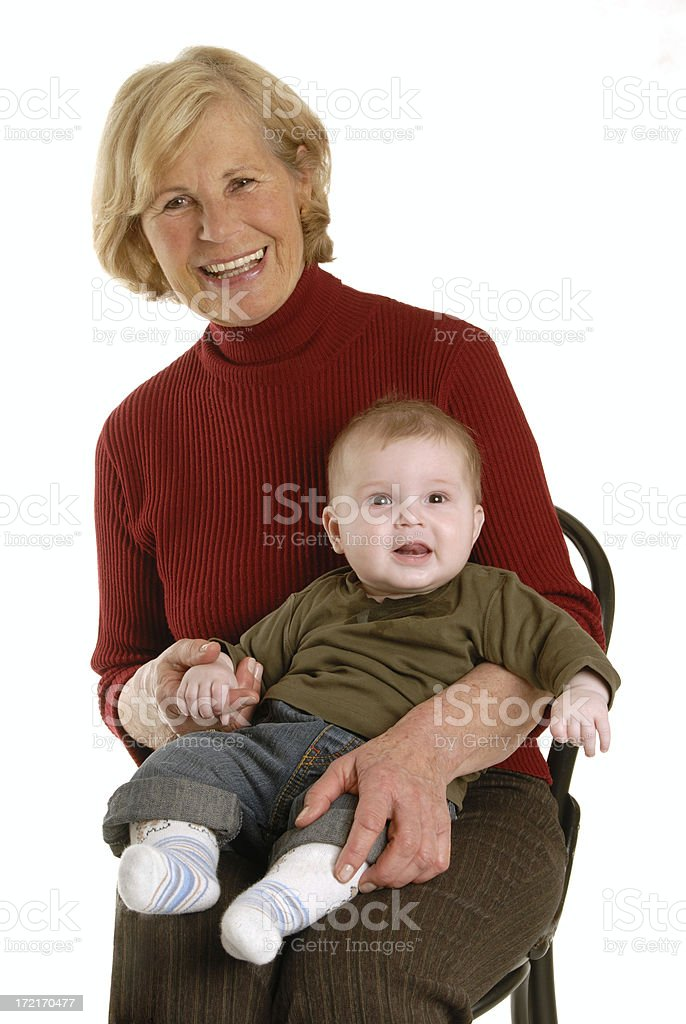happy grandmother with grandchild royalty-free stock photo