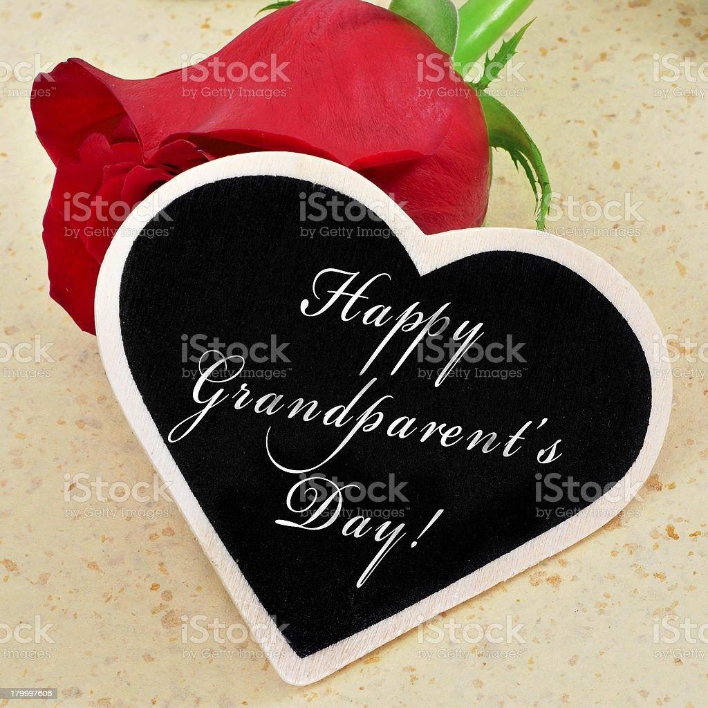happy grandparents day royalty-free stock photo